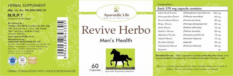 revive 60 tablet - label