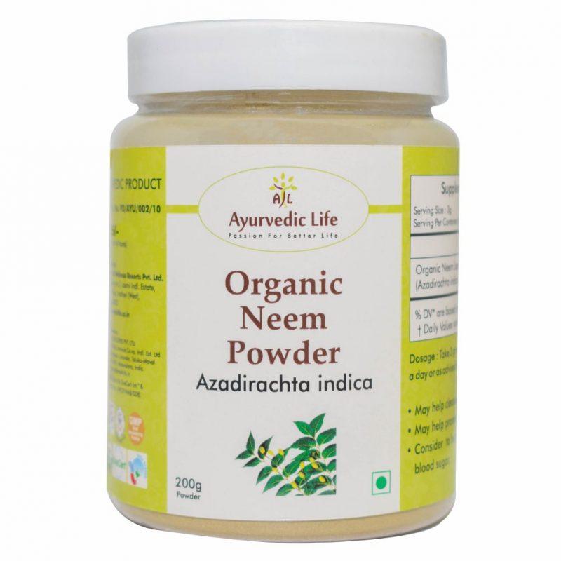 Organic neem powder 200 gm - ALF8881
