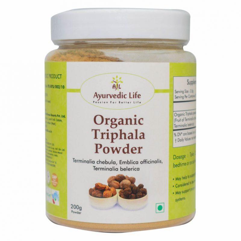 Organic Triphala powder 200 gm - ALF8904