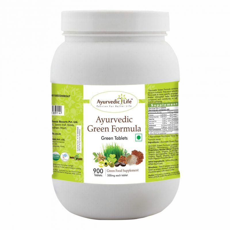 ayurvedic green formula 900 tablet - ALF8914