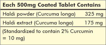turmeric 120 tablet - ingredient