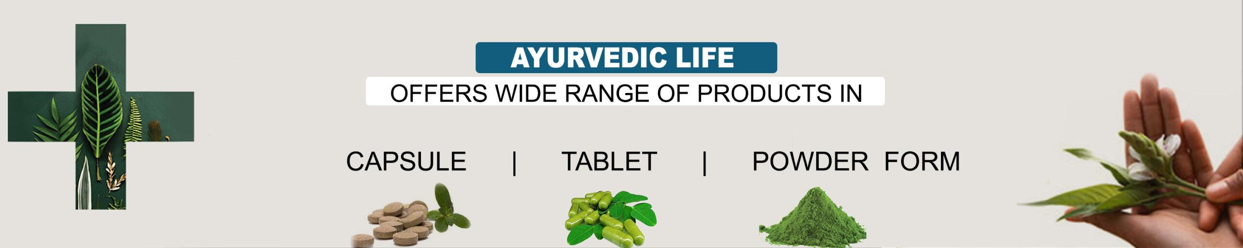 Ayurvedic Life product range